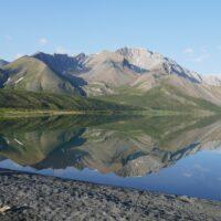 Nı́onep'eneɂ Tue (Backbone Lake, formerly Grizzly Bear Lake) in Nááts'įhch'oh National Park backcountry, Northwest Territories, Canada